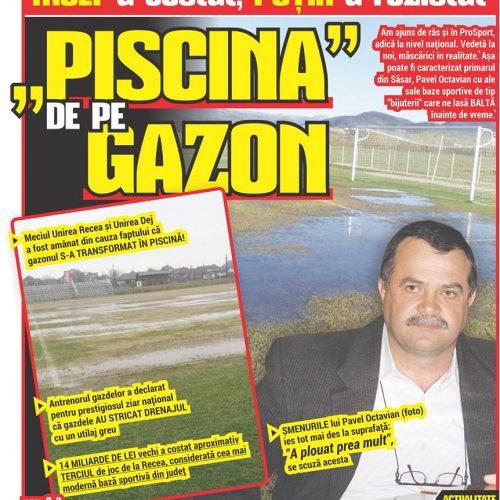 """MULT a costat, PUȚIN a rezistat – """"PISCINA"""" DE PE GAZON"""
