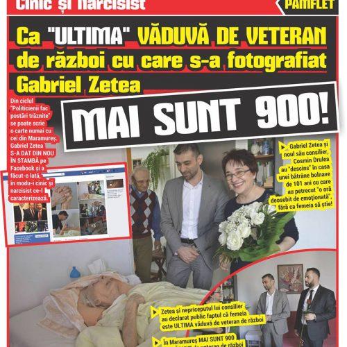 """Cinic și Narcisist. Ca """"ULTIMA"""" VĂDUVĂ DE VETERAN de război cu care s-a fotografiat Gabriel Zetea MAI SUNT 900!"""