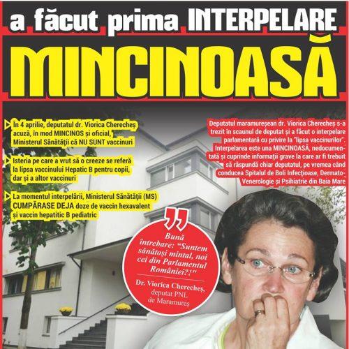 Dr. Viorica Cherecheș, DEPUTAT de Maramureș a făcut prima INTERPELARE MINCINOASĂ