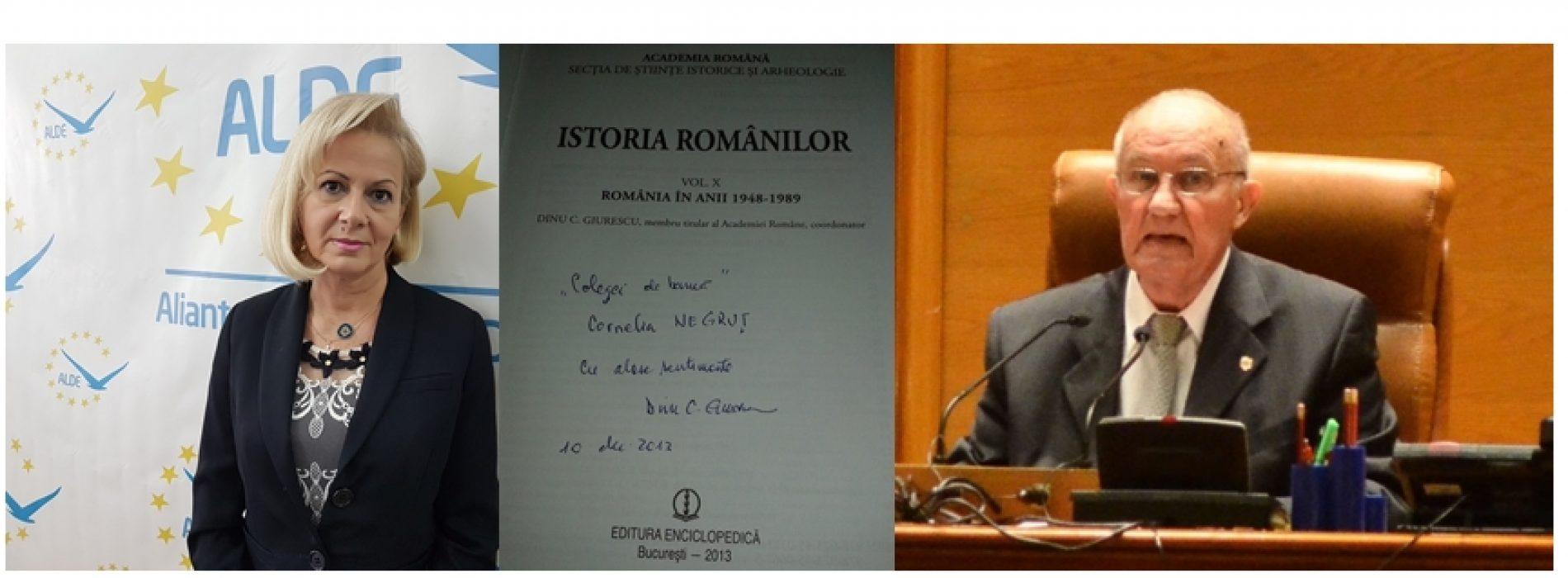 """Cornelia Negruț, AMINTIRI despre Dinu C. Giurescu: """"Îmi spunea <<Cornelia, cum să scriu Istoria României din America?>>"""""""