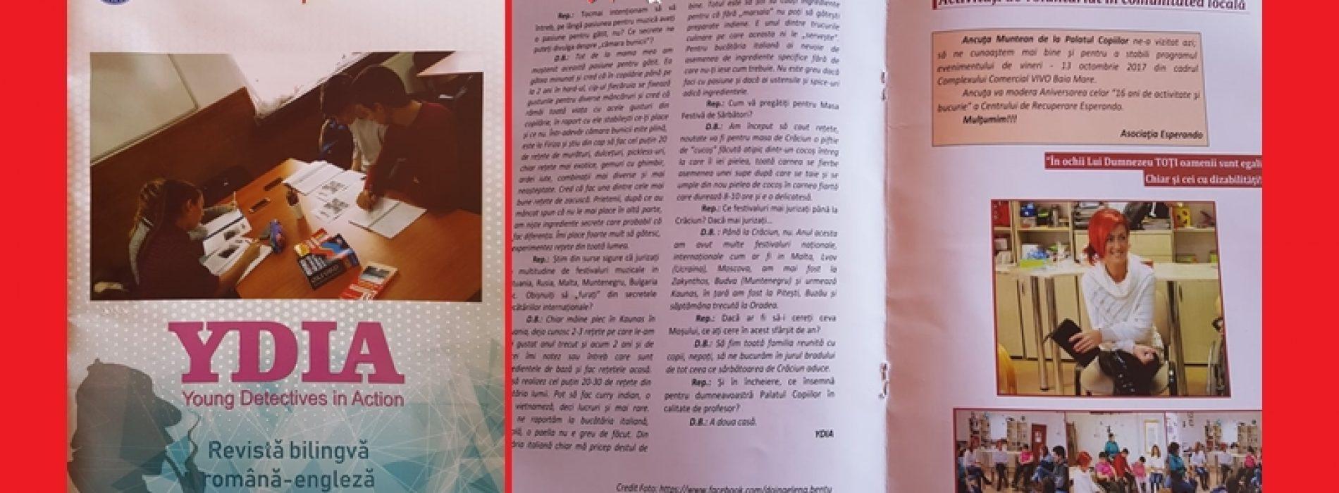 """YDIA. În timp ce PRESA """"mare"""" SUFERĂ, micii ziariști repun bazele JURNALISMULUI ca la carte într-o revistă bilingvă, română-engleză"""