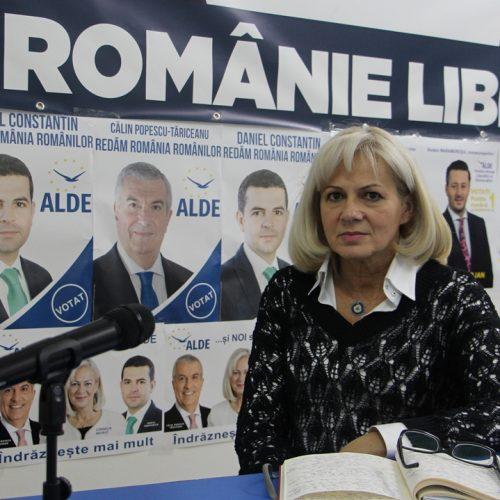 """Deputatul Cornelia Negruţ: """"Alegătorii liberali trebuie să voteze ALDE, un partid liberal, nu PNL, un partid al compromisurilor"""""""
