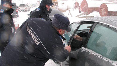 SALVAȚI din zăpadă de către jandarmi