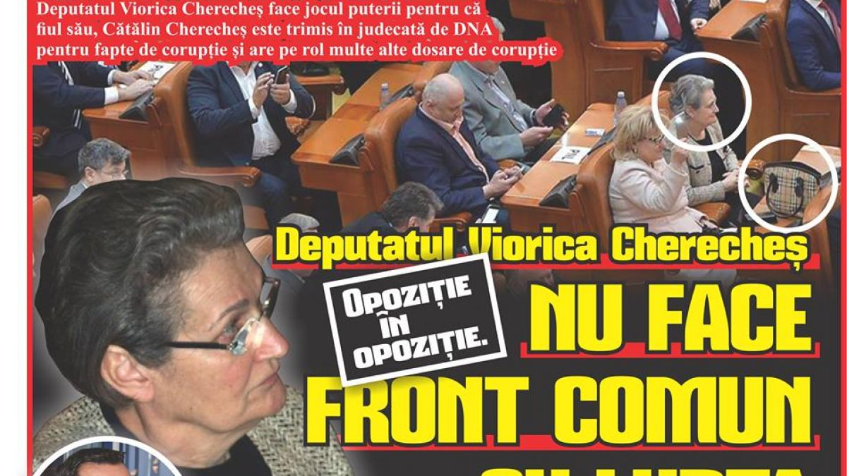 Opoziție în opoziție. Depuatul Viorica Cherecheș NU FACE FRONT COMUN CU LUPTA ANTICORUPȚIE!