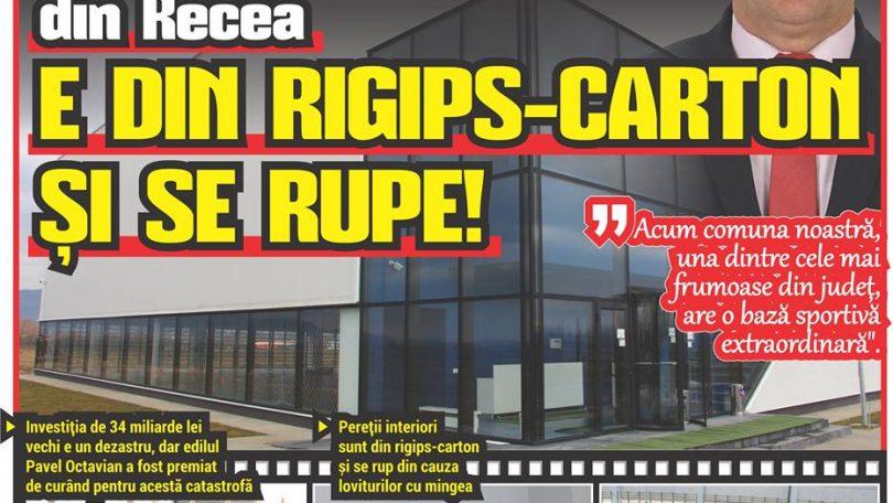 Moderna SALĂ DE SPORT din Recea E DIN RIGIPS-CARTON ȘI SE RUPE!