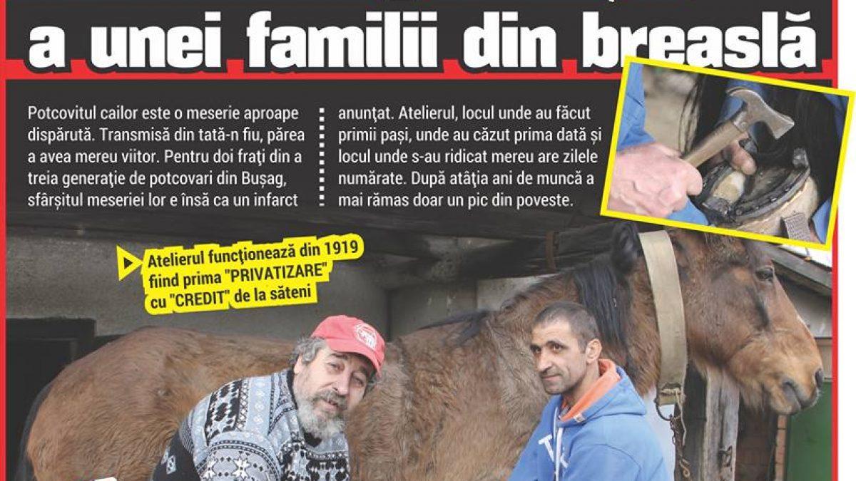 Într-un atelier din comuna Bușag mai lucrează ULTIMII POTCOVARI din a treia generație a unei familii din breaslă