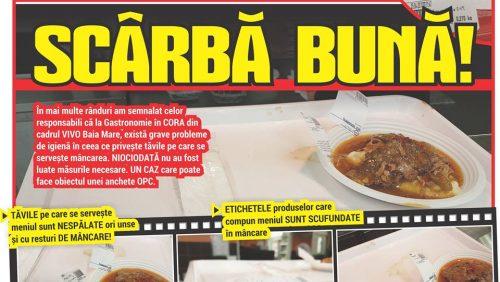 Tavă cu LĂTURI la meniu în CORA! SCÂRBĂ BUNĂ!