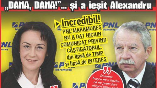 """La Sighetu Marmației, ALEGERI CU SCANDAL. PNL contra PNL.""""DANA, DANA!""""  … și a ieșit Alexandru"""