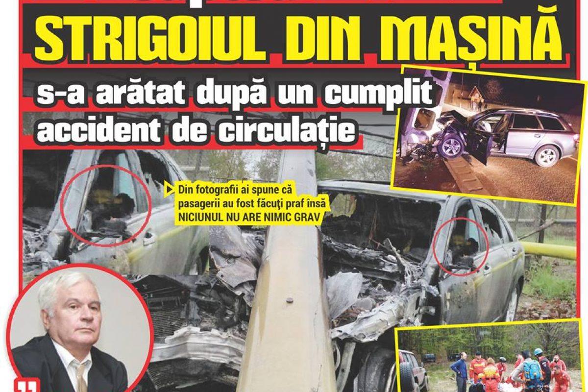 În noaptea ÎNVIERII, STRIGOIUL DIN MAȘINĂ s-a arătat după un cumplit accident de circulație