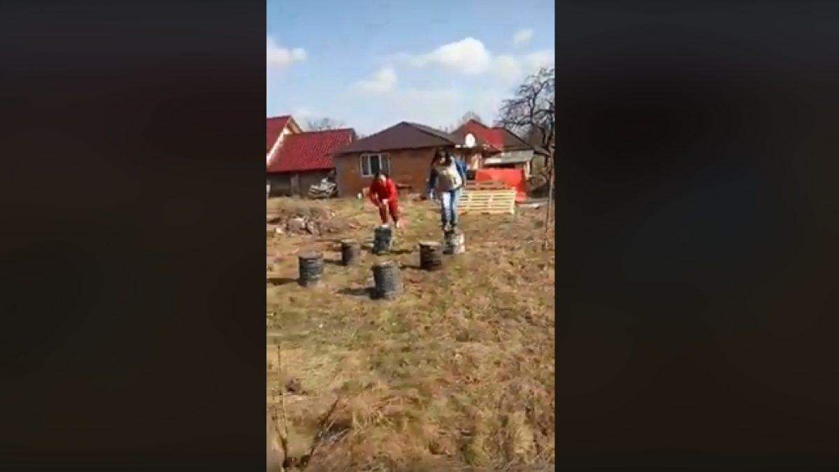 EXATLON de Maramureș! Un clip viral din Arieșul de Pădure