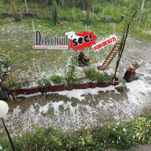 Video ȘOC!ant. POTOP cu GHEAȚĂ ca IARNA în Maramureș! O ploaie cu GRINDINĂ a distrus TOT pe alocuri