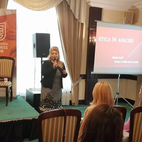 VIDEO. Maramureș Business CLUB – Afaceri la feminin. Diana Iluț – Etica în afaceri – Sfara Tours Baia Mare