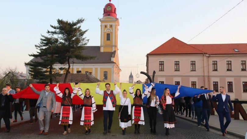 Maramureșul a fost ieri popas al unirii simbolice a regiunilor istorice românești