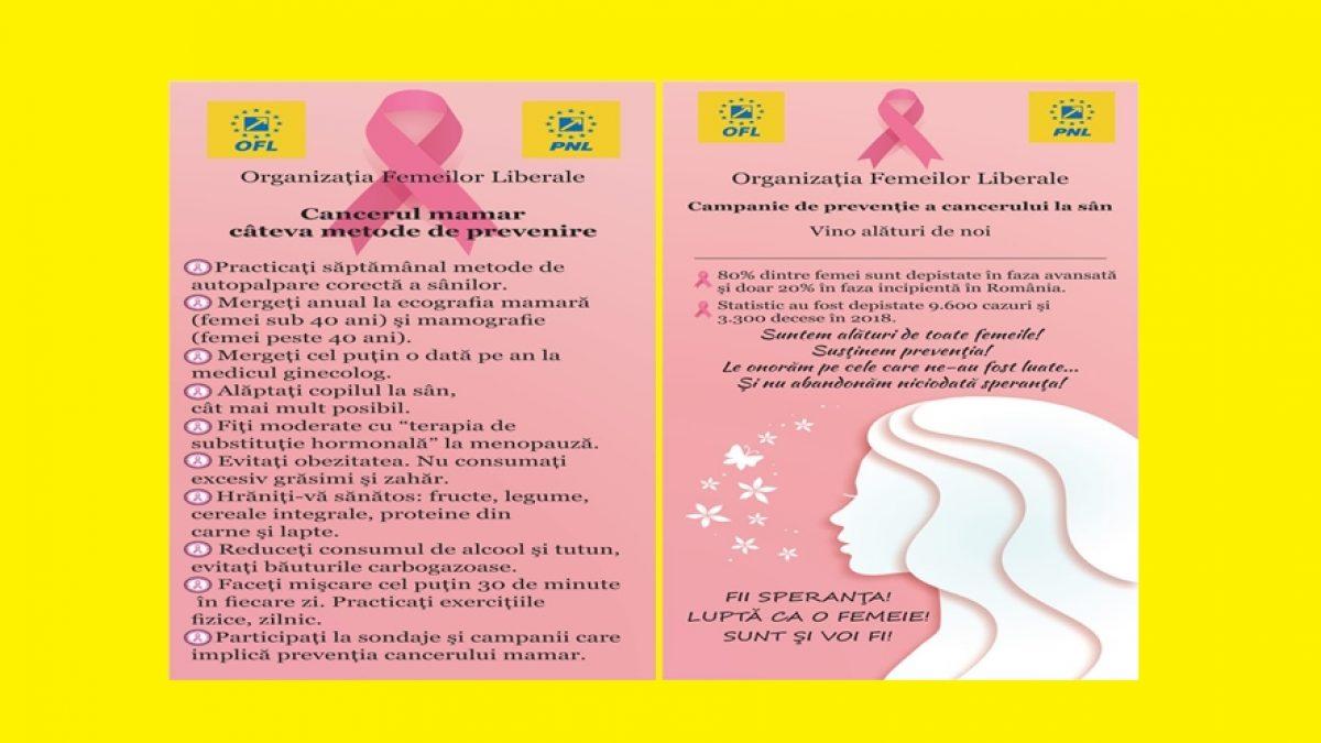 Femeile liberale din Maramureș, implicate în campania de prevenție a cancerului la sân