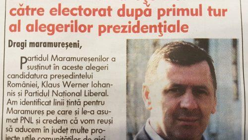 Partidul Maramureșenilor are UN singur MEMBRU. Pe Ghiță. Ghiță l-a făcut pe Iohannis PREȘEDINTE în Maramureș