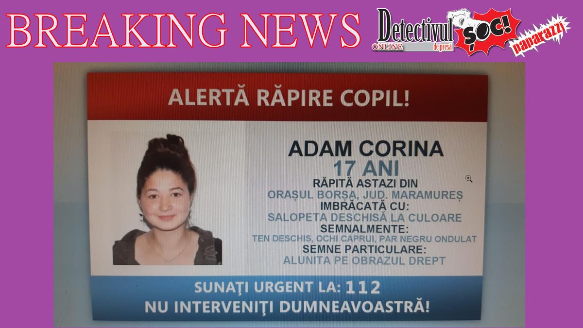 Ultima oră! Fata RĂPITĂ la Borșa a fost GĂSITĂ la Arad