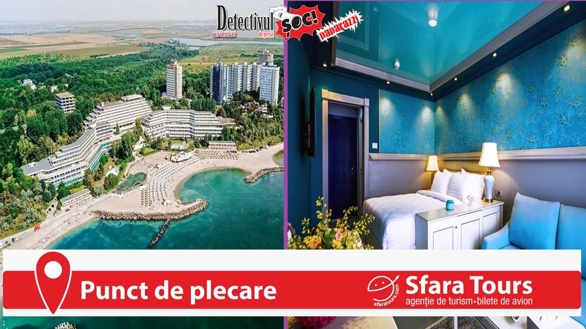 Sfara Tours Baia Mare. COMPLEXUL Amfiteatru-Belvedere-Panoramic e din nou VEDETA litoralului românesc. Are PLAJĂ PRIVATĂ, 4 piscine, restaurante, baruri