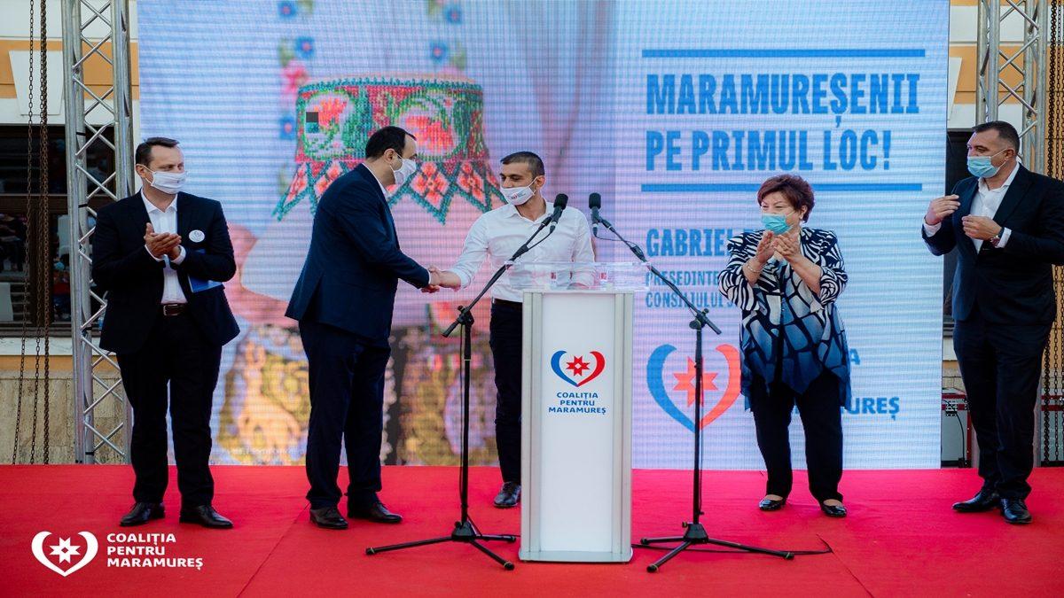 Vasile Moldovan a pornit în cursa pentru Primăria Sighetu Marmației având alături conducerea Coaliției pentru Maramureș