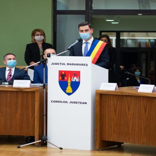Ionel Bogdan a depus jurământul pentru preluarea mandatului la conducerea Consiliului Județean Maramureș