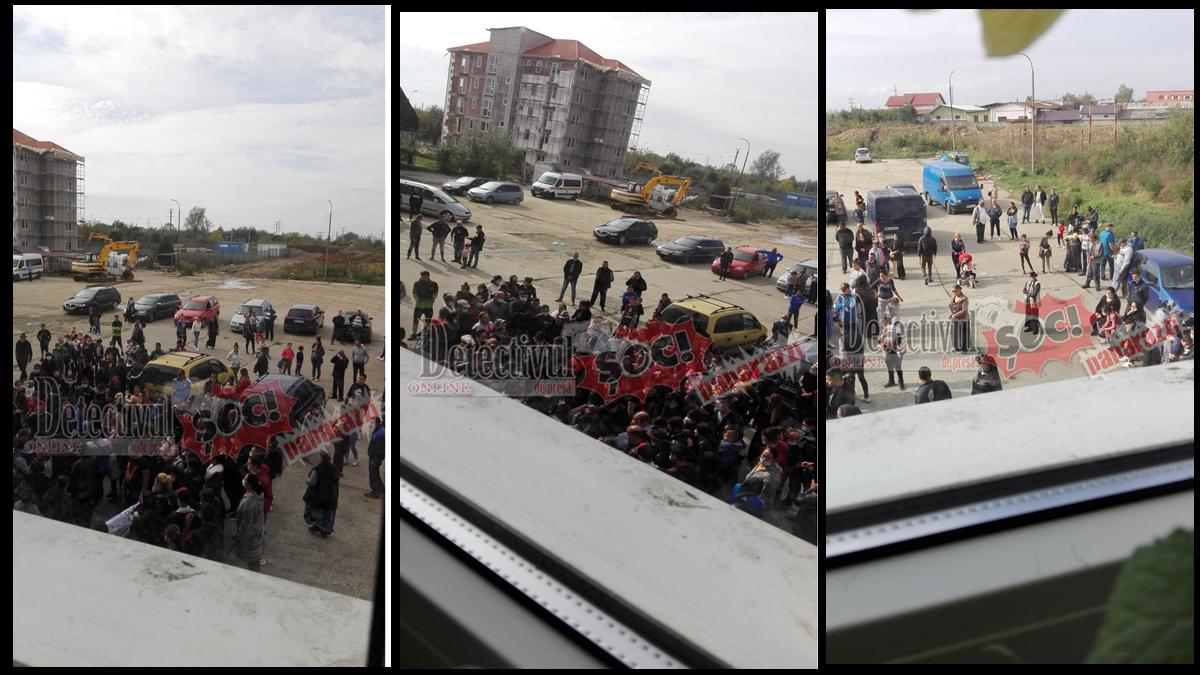 ACUM. Înmormântare pe GRĂNICERILOR în Baia Mare cu peste 100 de persoane, una lângă cealaltă. JANDARMERIA privește neputincioasă pentru că la eveniment sunt CAPI ai lumii INTERLOPE rome
