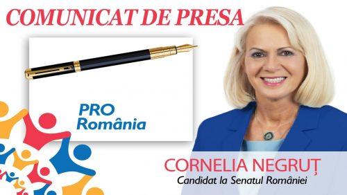 Cornelia Negruț (PRO România): Lipsa de soluții a guvernului a dus la explozia numărului îmbolnăvirilor cu COVID-19