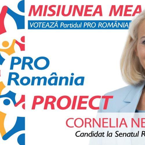 """Cornelia Negruț, candidat PRO România la SENAT, va face """"Legea zonelor turistice de importanță națională"""" pe baza unui studiu propriu. Scutirea totală de taxe și impozite pe 5 ani de zile, a tuturor firmelor care fac turism"""