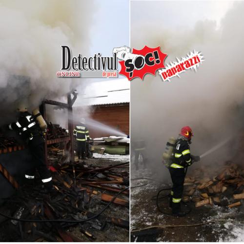 Incendiu în Maramureș
