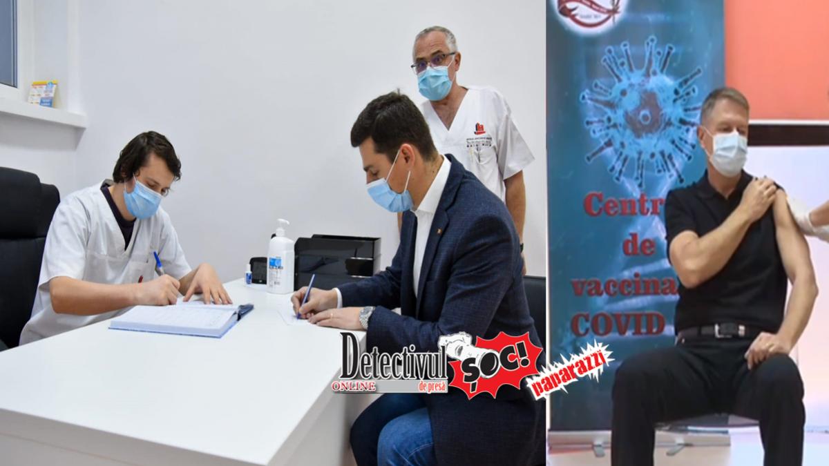 Președintele de la Maramureș, Ionel Bogdan s-a VACCINAT anti-COVID 19 deodată cu președintele Klaus Iohannis