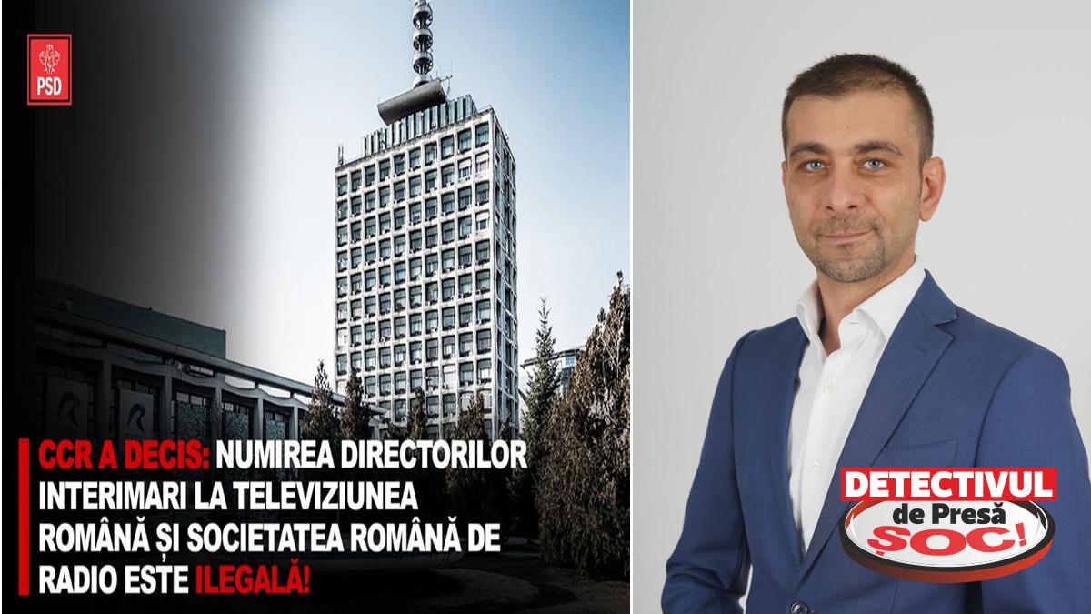 Deputatul Zetea: CCR a decis că numirea directorilor interimari la Televiziunea Română și Societatea Română de Radio este ILEGALĂ!