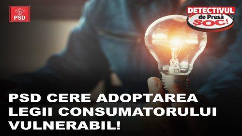 PSD cere adoptarea legii CONSUMATORULUI VULNERABIL! Peste 500.000 de români riscă să fie aruncați în întuneric!