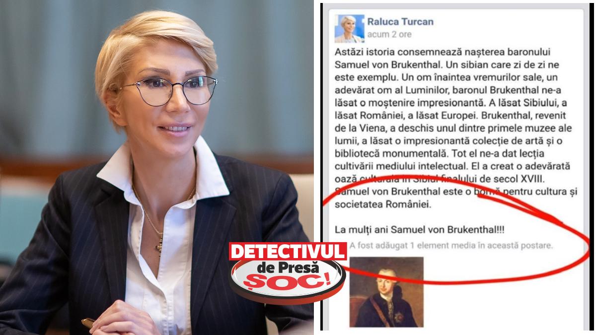 """Noua PROASTĂ a României sau """"VEORICA"""" peneleului! Raluca Turcan i-a urat """"La mulți ani"""" baronului Samuel von Brukenthal, MORT de 218 de ani! Vezi cum a fost sancționată pe Facebook"""