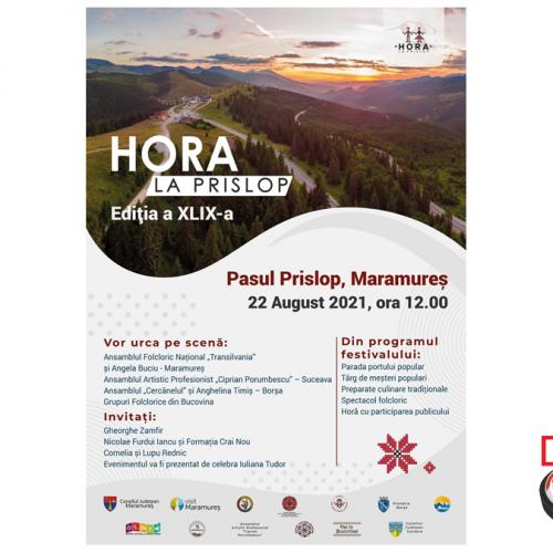 Consiliul Județean Maramureș vă invită la HORA LA PRISLOP, ediția a XLIX-a