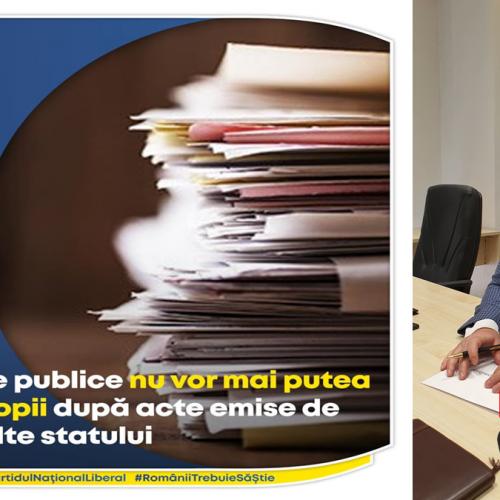 """Senatorul Țâgârlaș: """"Instituțiile publice nu vor mai putea solicita copii după acte emise de entități ale statului"""""""
